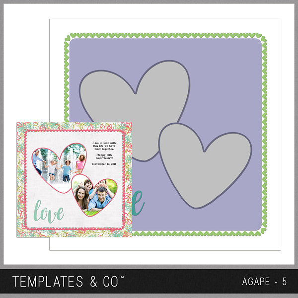 Agape 5 Digital Art - Digital Scrapbooking Kits