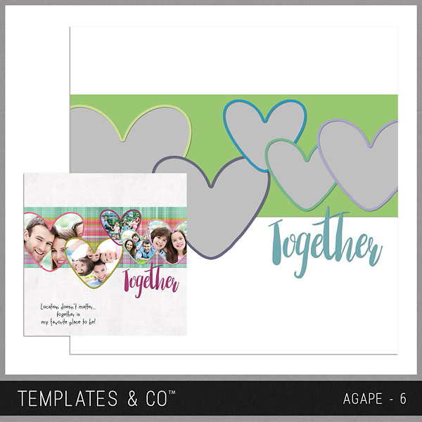 Agape 6 Digital Art - Digital Scrapbooking Kits
