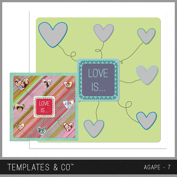 Agape 7 Digital Art - Digital Scrapbooking Kits