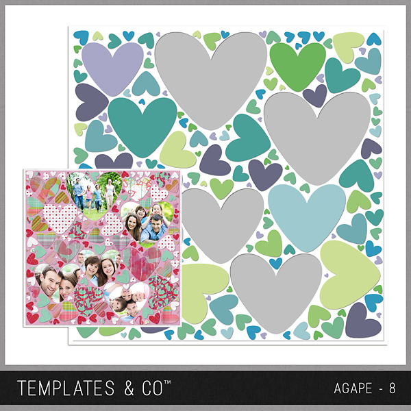 Agape 8 Digital Art - Digital Scrapbooking Kits
