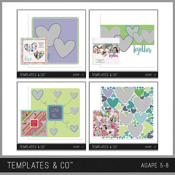 Agape 5-8 Digital Art - Digital Scrapbooking Kits