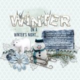 Winter Story - Embossed Papers