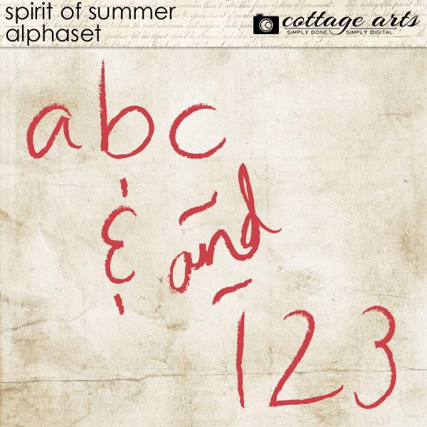 Spirit Of Summer AlphaSet Digital Art - Digital Scrapbooking Kits