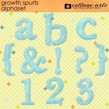 Growth Spurts AlphaSet Digital Art - Digital Scrapbooking Kits