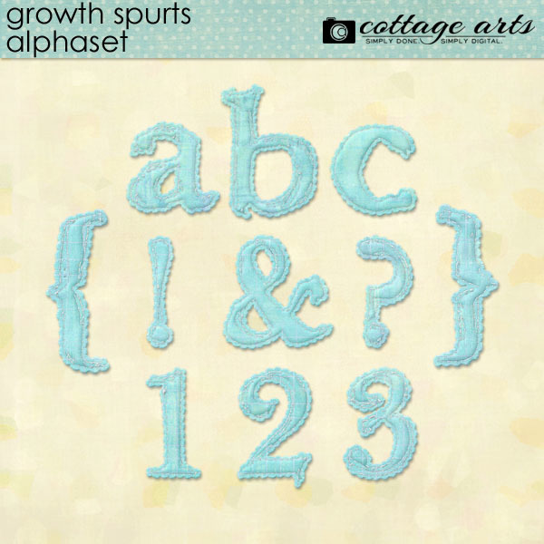 Growth Spurts AlphaSet Digital Art - Digital Scrapbooking Kits