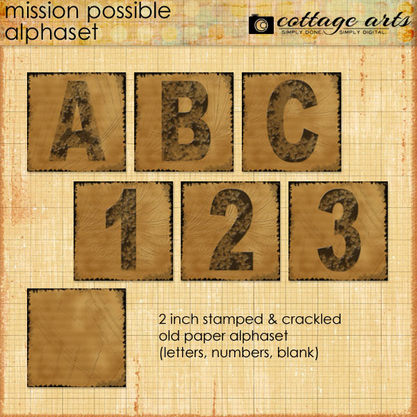 Mission Possible AlphaSet Digital Art - Digital Scrapbooking Kits