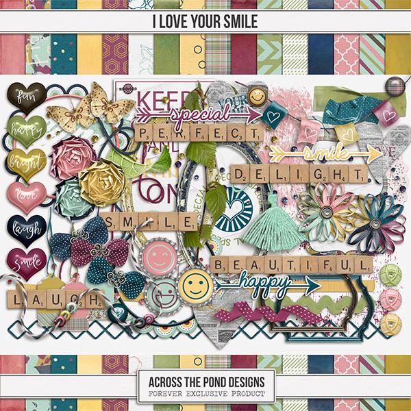 I Love Your Smile Digital Art - Digital Scrapbooking Kits