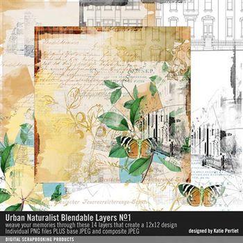 Urban Naturalist Blendable Layers No. 01 Digital Art - Digital Scrapbooking Kits
