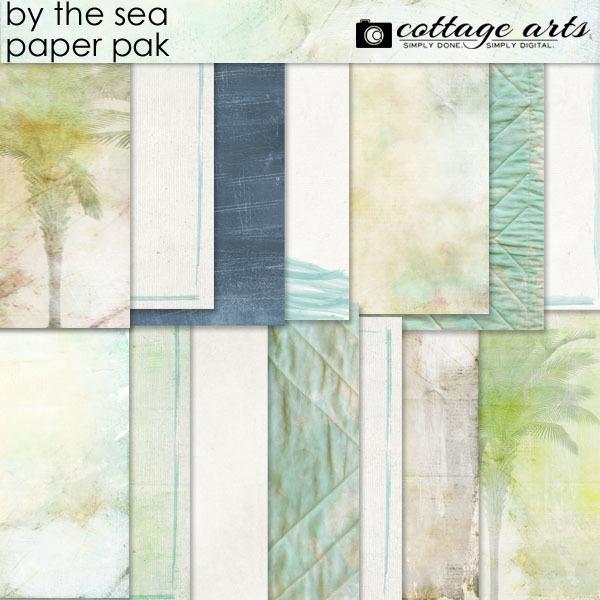 By The Sea Paper Pak Digital Art - Digital Scrapbooking Kits
