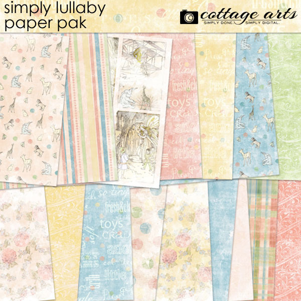 Simply Lullaby Paper Pak Digital Art - Digital Scrapbooking Kits