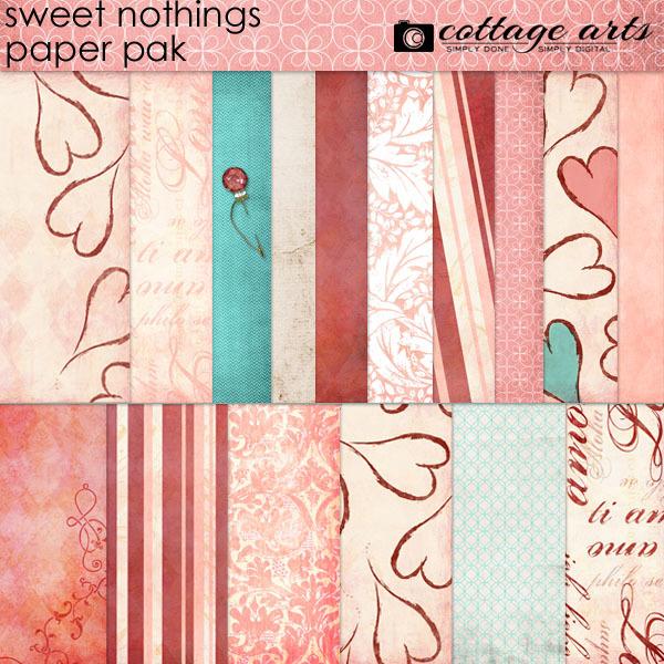 Sweet Nothings Paper Pak Digital Art - Digital Scrapbooking Kits