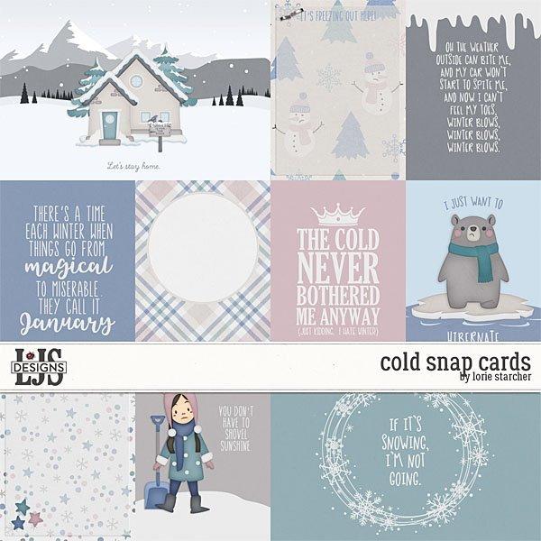 Cold Snap - Cards Digital Art - Digital Scrapbooking Kits
