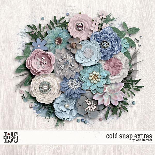 Cold Snap - Extras Digital Art - Digital Scrapbooking Kits