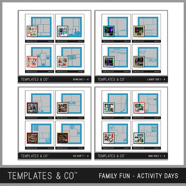 Family Fun - Activity Days Digital Art - Digital Scrapbooking Kits