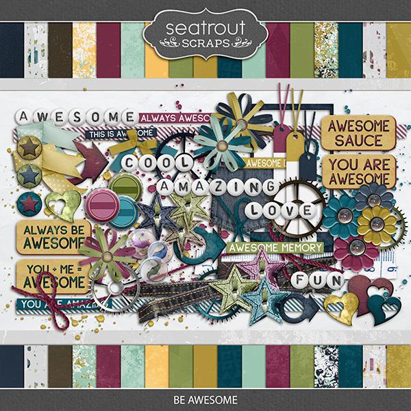Be Awesome Digital Art - Digital Scrapbooking Kits