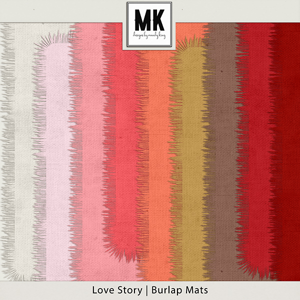 Love Story - Burlap Mats Digital Art - Digital Scrapbooking Kits