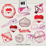 Love Story - Stamps