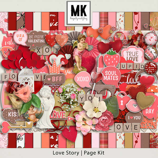 Love Story - Page Kit