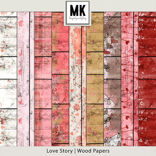 Love Story - Wood Papers
