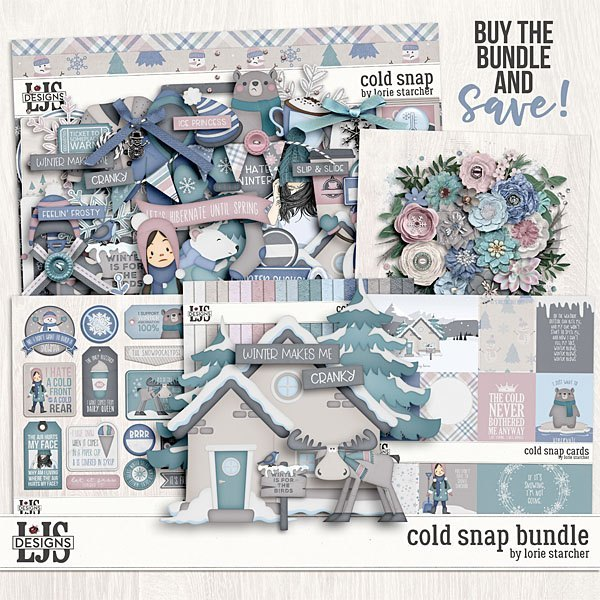 Cold Snap - Bundle Digital Art - Digital Scrapbooking Kits