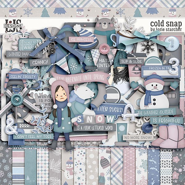 Cold Snap Digital Art - Digital Scrapbooking Kits
