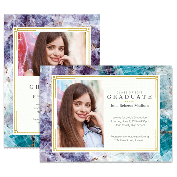 Elegant Quartz Grad Card