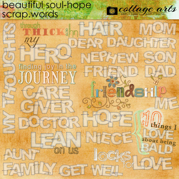 Beautiful Soul - Hope Scrap.words Digital Art - Digital Scrapbooking Kits