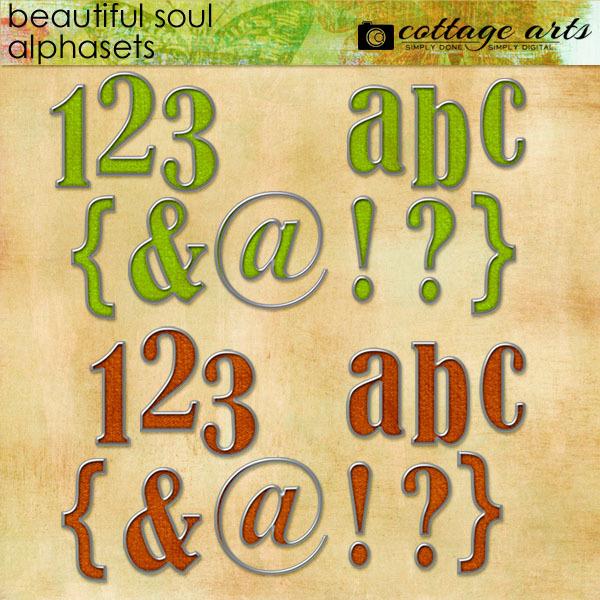 Beautiful Soul Alphasets Digital Art - Digital Scrapbooking Kits