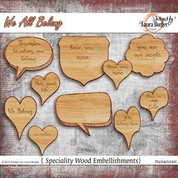 We All Belong Wood Embellishments