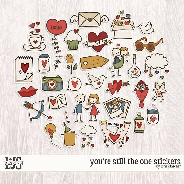 You're Still The One Stickers Digital Art - Digital Scrapbooking Kits