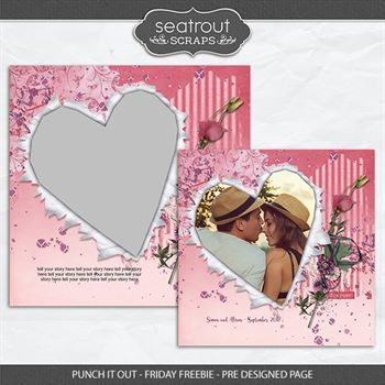 Punch It Out - Friday Freebie - Pre Designed Page