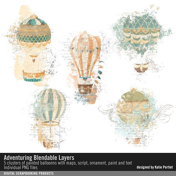 Adventuring Blendable Layers Digital Art - Digital Scrapbooking Kits