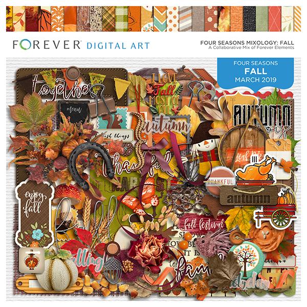 Four Seasons Mixology: Fall Digital Art - Digital Scrapbooking Kits