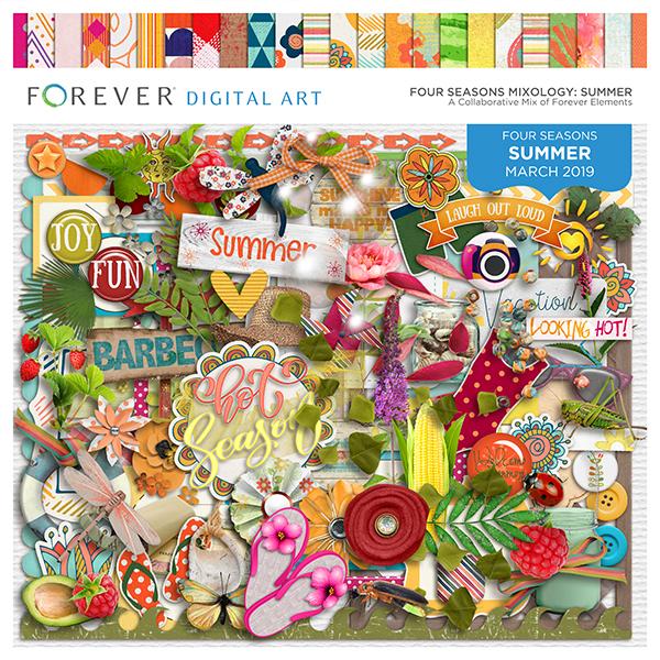 Four Seasons Mixology: Summer Digital Art - Digital Scrapbooking Kits