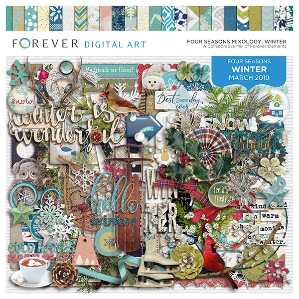 Four Seasons Mixology: Winter Digital Art - Digital Scrapbooking Kits
