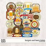 Burgers And Beers Labels