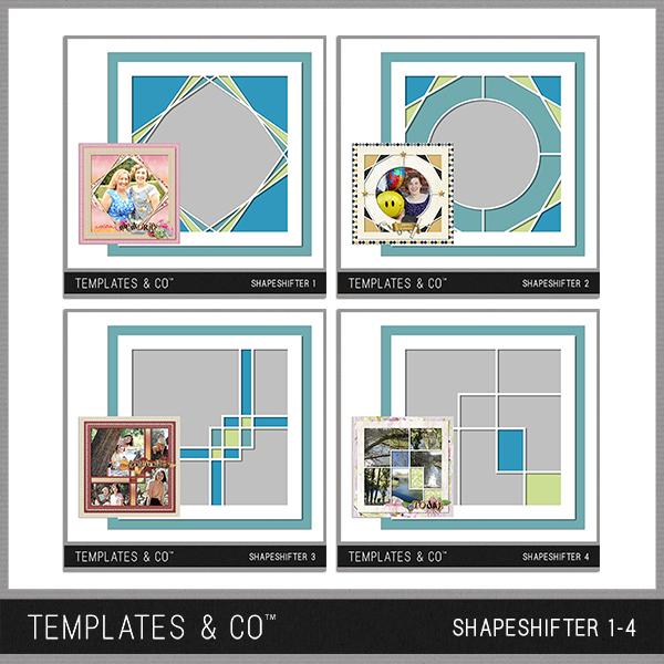 Shapeshifter 1-4 Digital Art - Digital Scrapbooking Kits