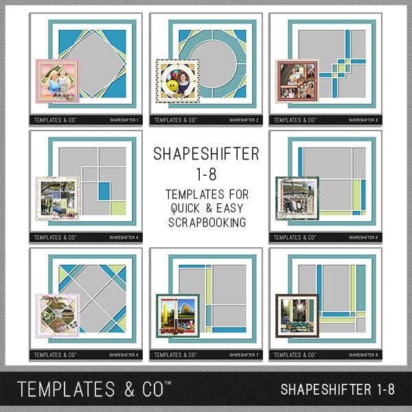 Shapeshifter 1-8 Digital Art - Digital Scrapbooking Kits
