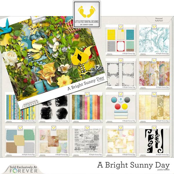 A Bright Sunny Day Jumbo Bundle Digital Art - Digital Scrapbooking Kits