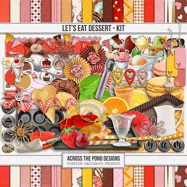 Let's Eat Dessert - Page Kit Digital Art - Digital Scrapbooking Kits