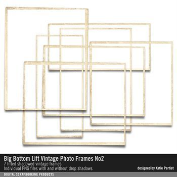 Big Bottom Lift Vintage Photo Frames No. 02 Digital Art - Digital Scrapbooking Kits