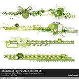 Readymade Layers Green Borders No. 01