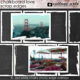 Chalkboard Love Scrap.Edges