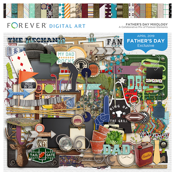Father's Day Mixology Digital Art - Digital Scrapbooking Kits