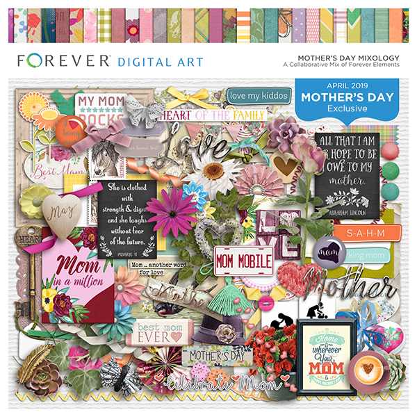 Mother's Day Mixology Digital Art - Digital Scrapbooking Kits