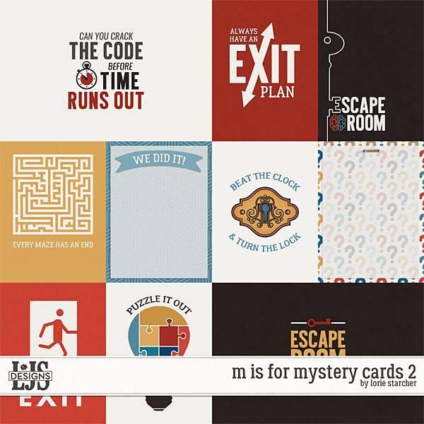 M Is For Mystery Cards 2 Digital Art - Digital Scrapbooking Kits