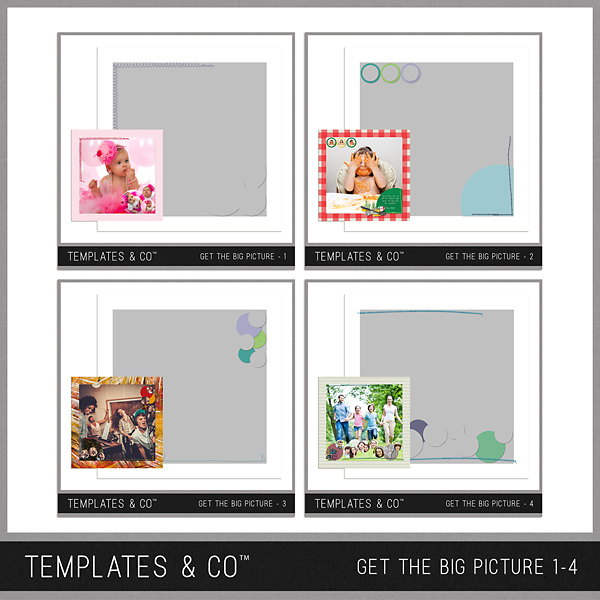 Get The Big Picture 1-4 Digital Art - Digital Scrapbooking Kits