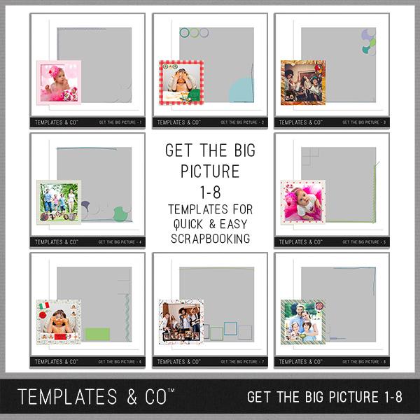 Get The Big Picture 1-8 Digital Art - Digital Scrapbooking Kits