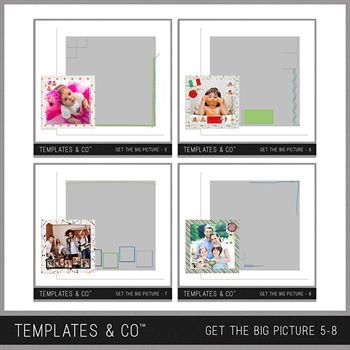 Get The Big Picture 5-8 Digital Art - Digital Scrapbooking Kits