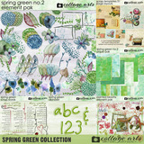 Spring Green Pre-designed Page Freebie
